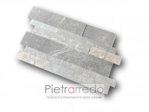 rivestimento in pietra naturale a listone unico singolo per facciate e muri da incollare senza stuccatura costi offerta pietrarredo milano