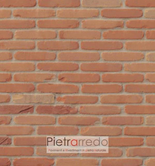 rivestimento mattoni terracotta rosso facciata pica antiche mura terracotta prezzo pietrarredo milano