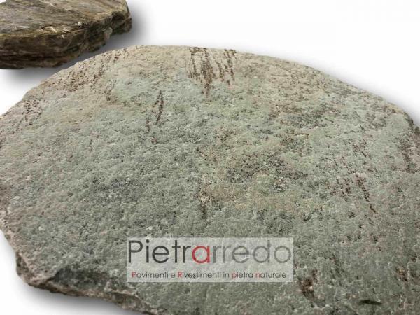 rotondi cerchi in pietra passi giapponesi quarzite brasiliana stone garden prezzo pietrarredo
