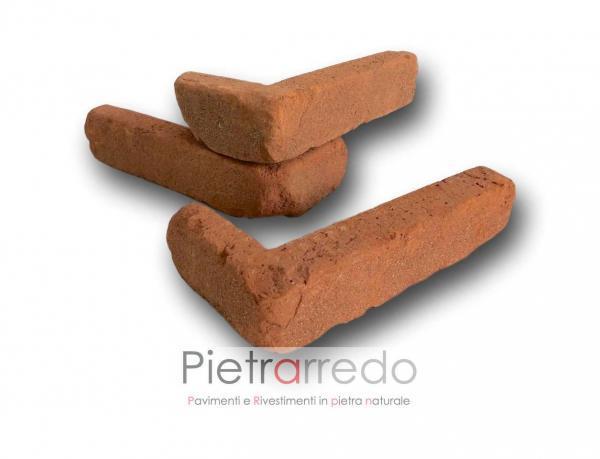 spigolo angolare in mattone rosso antiche mura pica san marco rosso listello pietrarredo costo milano