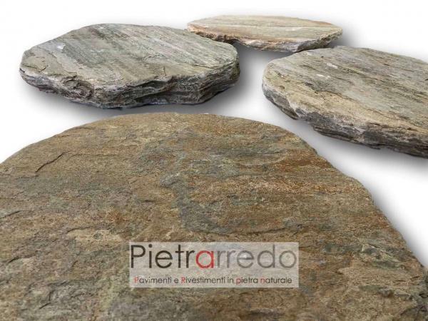 stone garden rotondo camminamento passo giapponese lastre rotonde pietra prezzo pietrarredo