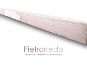 zoccolino battiscopa per pavimento in quarzite braisliana colore giallo rosa spessore 1 cm prezzo piano cava