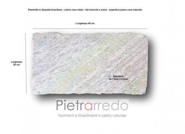 costi pavimenti esterni pietra vera quarzite brasiliana lati tranciati per esterno resistente piscine bosrdi e vialetti