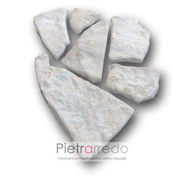 lastrame palladiana mosaico pietra di trani anticata da rivestimento bianca prezzo costi offerta pietrarredo milano muri pareti camini
