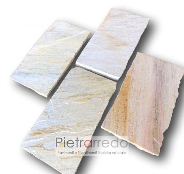 lastre in pietra gialla quarzite brasile prezzo brasil italia milano costo pavimento cut yellow