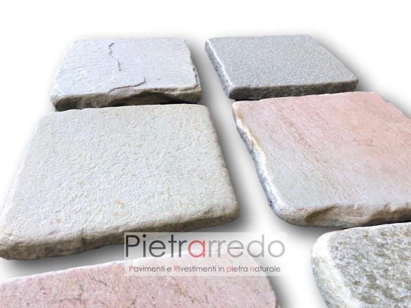 lastre quadrate in pietra quarzite brasiliana prezzo costi gontero brasile piscine costi pietrarredo