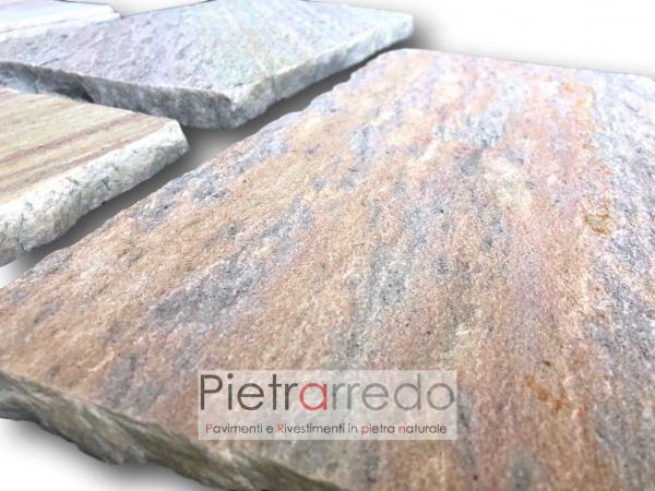 latre piano cava antiscivolo atermico quarzite brasiliana cave gontero prezzo lati tranciati 20x40 cm