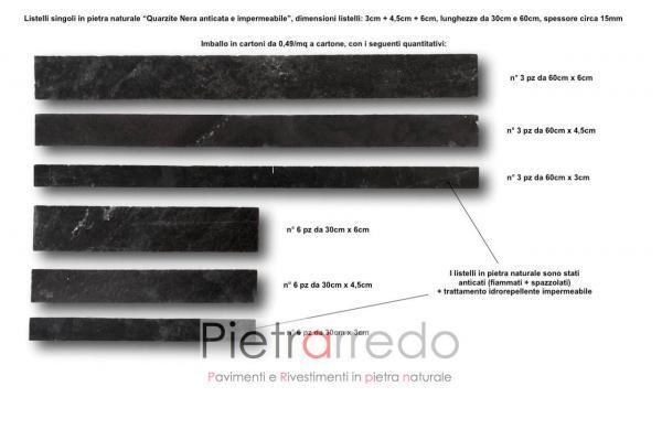 liste in pietra naturale singoli quarzite nera anticata prezzo pietrarredo milano costi mq gontero lg070 fallimento multilistello
