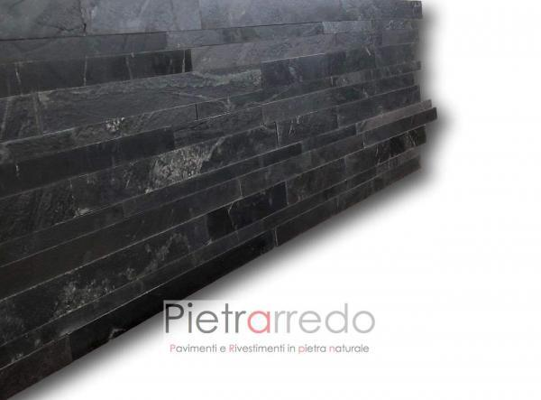 listelli singoli per rivestimento pietra listelli gontero lg070 pietrarredo milano costi nera facciata costi sasso