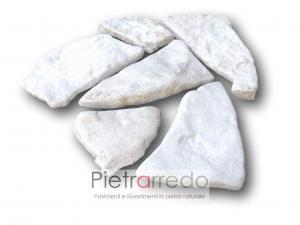 offerta e costo parete in pietra di trani mosaico anticata peer muri e camini facciate pareti costo bianca vecchia opus incertum