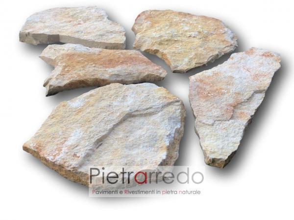 offerta e prezzo scorza di trani prezzi pietrarredo milano pietra da rivestimento muri e facciate antica gialla grezza scorza crosta