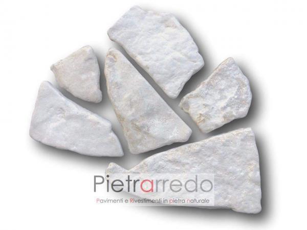 offerta pietra di trani anticata spazzolata da rivestimento prezzo antiqua vecchia pietrarredo milano