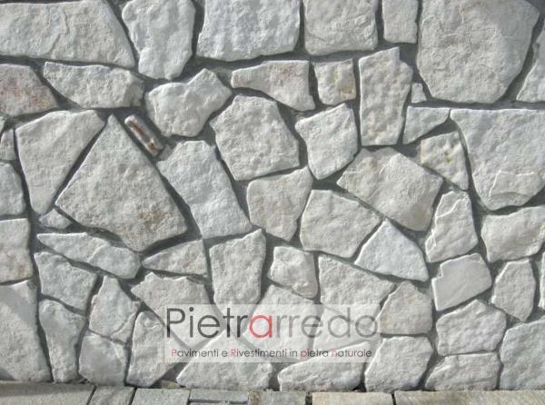 offerta rivestimento pietrarredo bianca misaico palladiana trani anticata sasso pugliese