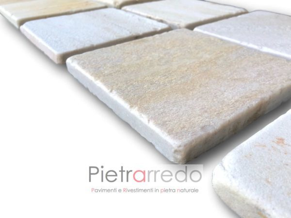 pavimento e piastrelle in pietra naturale quarzite brasile quadrate per mosaici spa saune centro benessere costi piascine pavimenti pietrarredo