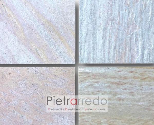 pavimento piastrelle in pietra naturale per piscine terme saune belle atermica prezzo costi cava gontero quarzite brasiliana
