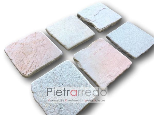 piastrelle anticate lati tranciati quarzite brasiliana 20x20cm prezzo cave gontero fallimento stone price swim