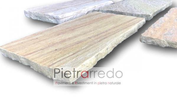 piastrelle in quarzite brailiana antiscivolo per pavimento esetreno interno cave gontero