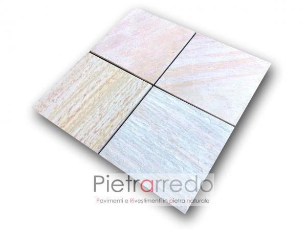 piastrelle per pavimento pietra quarzite brasiliana 47cm x 47cm costo metro quadro