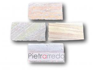 piastrelle pietra ecologica bio quarzite brasiliana prezzo lati tranciati terme milano de montel pavimento sasso scuderie prezzo