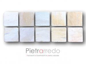 piastrelle tozzetti pavimento in pietra quadrati 17x17cm quarzite brasiliana lati anticati gontero prezzi offerte pietrarredo