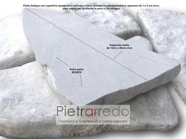 pietra sasso pietra da rivestimento palladiana lastre grezze