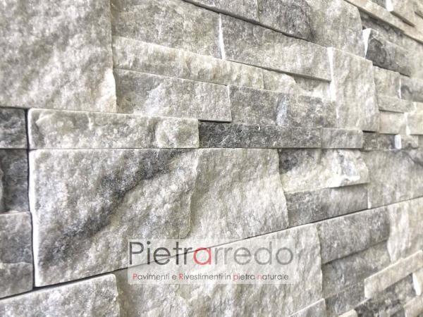 placche decorative pietrarredo stone cladding prezzo colore bianco grigio brillante stone veener