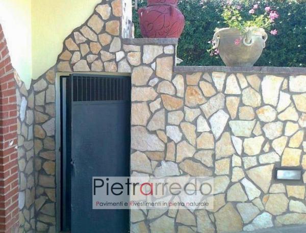 rivestimento facciate e muri in pietra scorza di trani per muri e facciata segata offerta prezzo pietrarredo milano