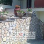 rivestimento muri in pietra di trani antiqua pietrarredo tranciata scorza barletta prezzo costi milano metro quadro
