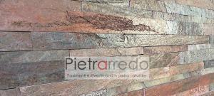 rivetimento in pietra copper metal red prezzo liste strips singol gontero artesia marmo parete pietrarredo milano
