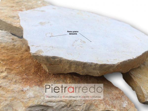 scorza antiqua pietra da rivestimento pugliese trani barletta gialla segata bella prezzo pietrarredo