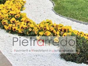 aiuola in graniglia granulato marmo bianco carrara costo prezzo pietra gravels giardino pietrarredo milano costi offerte zandobbio stone city