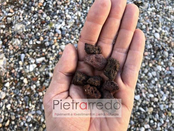 aiuole in lapillo vulcanico pietra naturale rosso pietrarredo milano italy stone garden zandobbio prezzo
