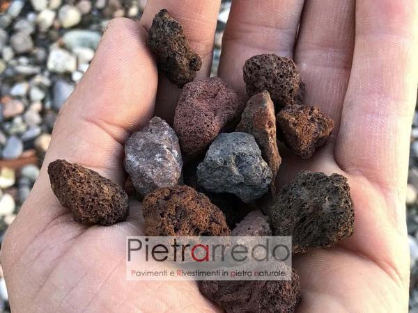 arredo giardino in pietra lapillo vulcanico rosso stone garden pietrarredo milano costi prezzi offerte zandobbio aiuole