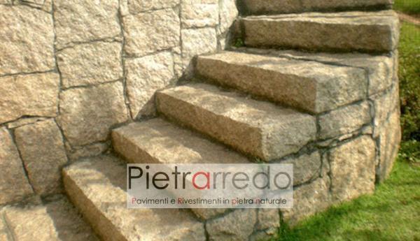 costo gradini gradoni da giardino per alzate contenimento terra sui lati sasso grezzo rustico pietrarredo milano