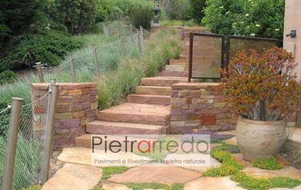 costo lastrone in pietra per gradone giardino trave camino caminetto offerta prezzo pietrarredo milano arredo giardino zandobbio stone city