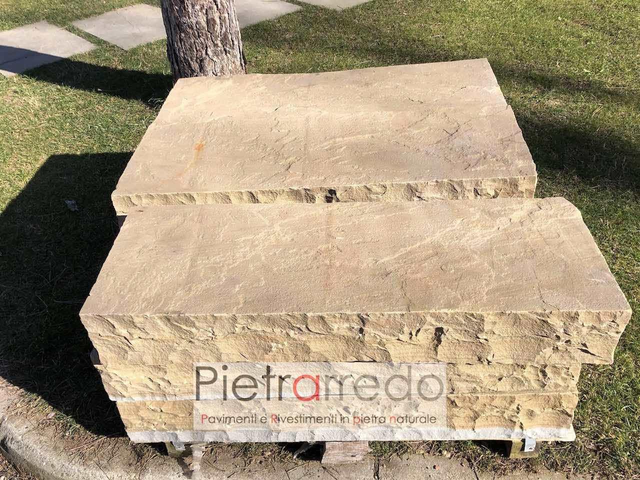 gradini gradoni in pietrea blocchi grezzi da posare sul prato giardino prezzo pietrarredo milano