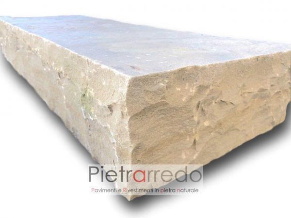 gradone in pietra golden mint pietrarredo milano sasso arenaria indiamn prezzo costi steps stone price