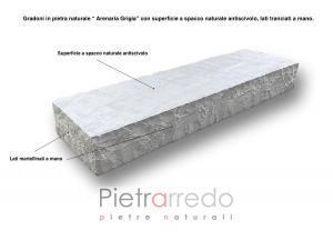 gradoni gradini in arenaria grigia blocco pietra per garden rocciosi pietrarredo milano prezzo