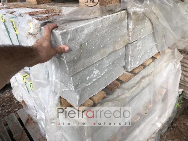 gradoni in pietra per esterno camminamenti offerte e prezzi pietrarredo grigio blocco gradone