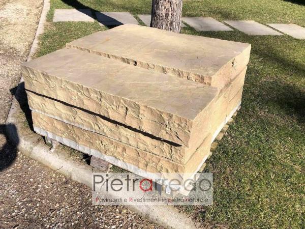 gradoni steps granulati zandobio prezzo costi travertino mint costo golden leaft pietrarredo milano