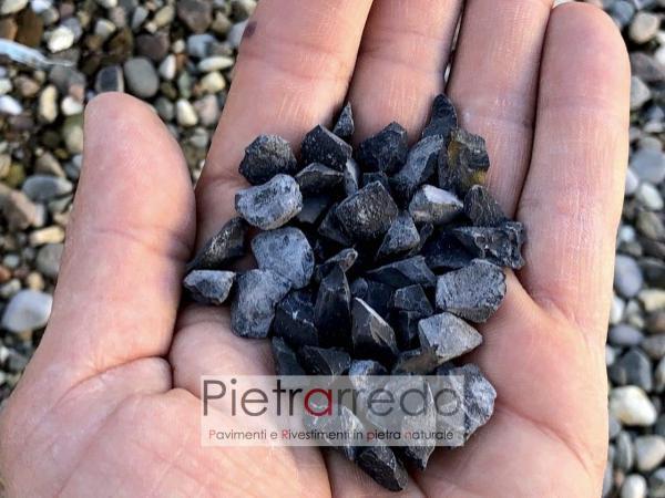 graniglia stone gravels nero assoluto ebano per aiuole sasso decorazione fiori e prati stone garden pietrarredo milano costo