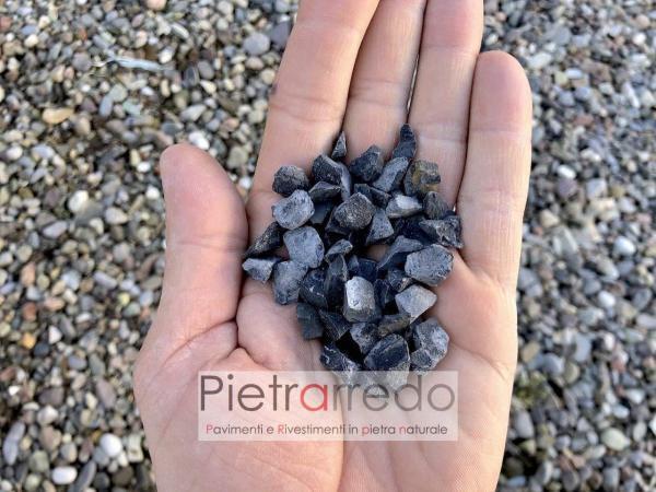 granulato nero ebano per arredo giardino in pietra naturale marmo spaccato stone garden prezzi zandobbio stone city pietrarredo milano