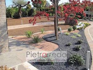 offerta decorazione giardini in sasso graniglia ghiaietto ghiaia nero assoluto ebano costi prezzi offerte pietrarredo milano graniglia