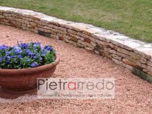 offerta e prezzi per graniglia spaccata sassolini ghiaietto rosso verona arredo giardino stone garden aiuole pietrarredo milano