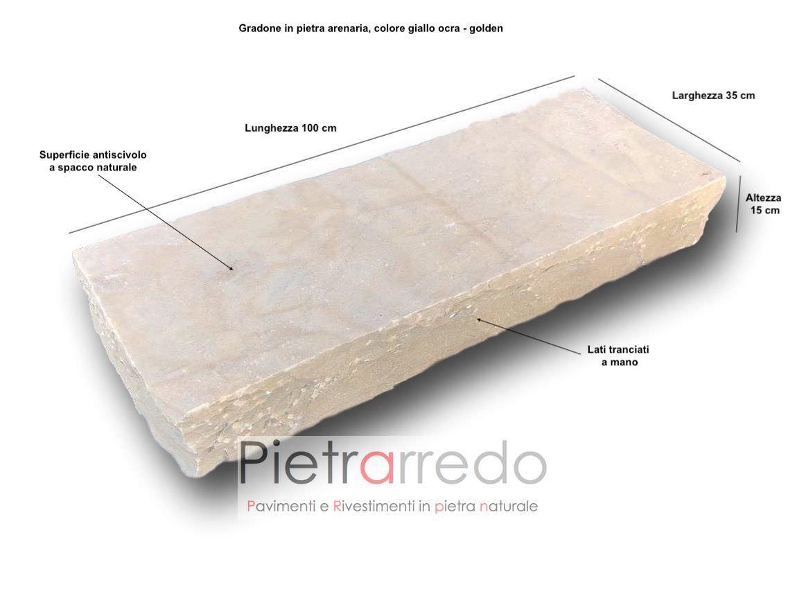 prezzo gradone in pietra grezza per contenimento terra giardino offerta costi altezza 15 cm pietrarredo milano
