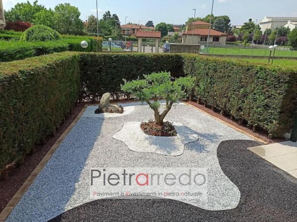 prezzo granulato zandobbio stone city offerte pietrarredo milano sassolini ghiaia colorata per giardini bianco nero stone garden grigio