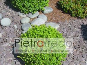 scaglie in ardesia viola per arredo giardino stone garden prezzo costi pietrarredo milano granulati zandobbio stone city