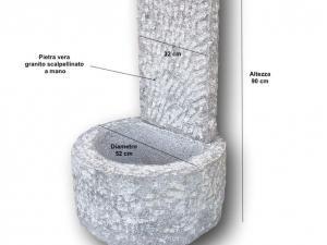 Fontana da terra in offerta in pietra grezza fatta a mano granito grigio martellinata pietrarredo milano costi prezzo