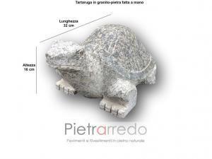 Tartaruga da giardino aredamento decori per prato pietra sasso granito pietrarredo milano costo