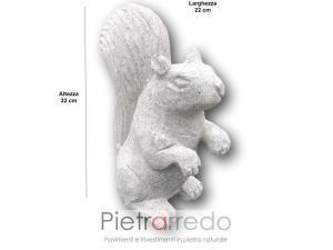 bellissimo scoiattolo per arredo giardino decorativo stone garden animal prezzo in offerta su pietrarredo